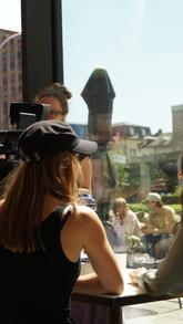 Linda Gasser und Julia Monte am Set von Wo sie ist.JPG