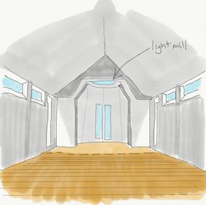 Interior light well