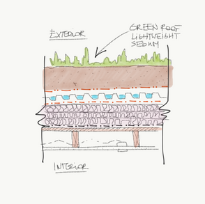 Detail - green roof