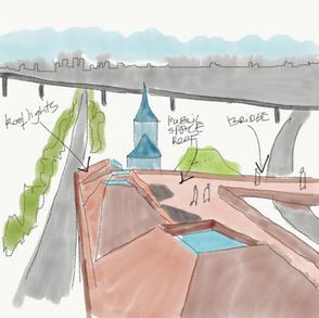 Roof terrace & bridge
