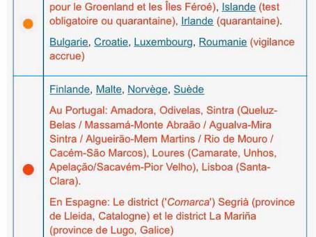 🔶 România clasată în zona portocalie în Belgia!