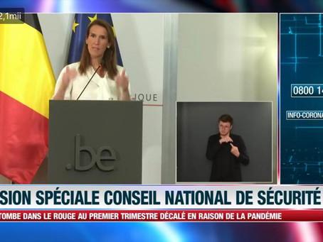Belgia - Deciziile Consiliului Național de securitate - 27 iulie 2020