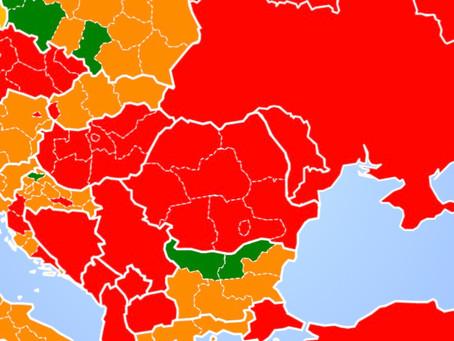 Noi zone roșii pe harta belgiană