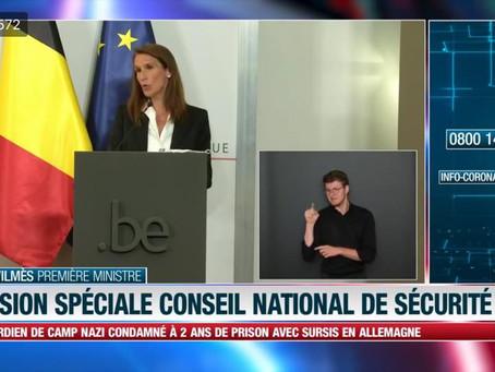 Belgia - Deciziile Consiliului Național de Securitate - 23 iulie 2020!