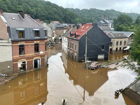 Inundații în Belgia: Apele încep să se retragă, în urmă rămâne dezastrul!