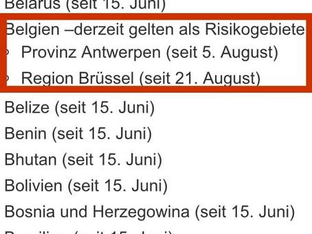 Germania include Bruxellesul pe lista zonelor cu risc epidemiologic ridicat!