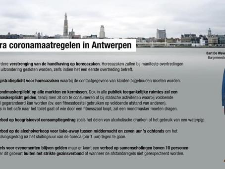 La Anvers, măsuri de securitate sporite din cauza exploziei de cazuri de Covid-19