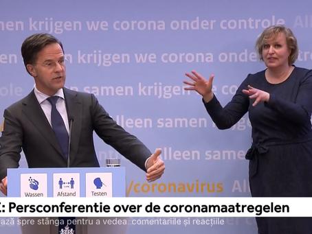 Olanda elimină restricțiile de noapte și deschide terasele din 28 aprilie