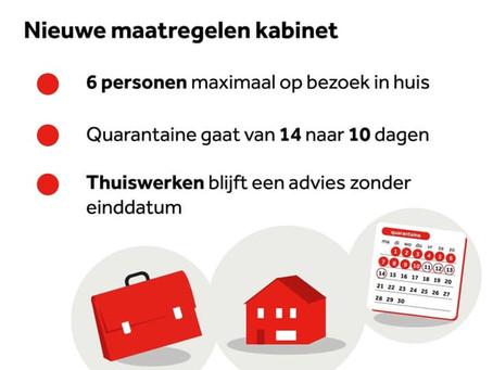Olanda limitează bula sociale la șase persoane și reduce carantina la zece zile!