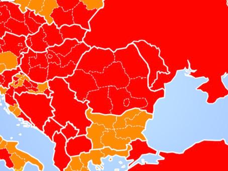 Doar două zone verzi pe harta belgiană pentru deplasările neesențiale