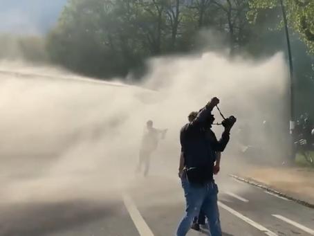 Din nou confruntări în Bois de la Cambre între poliție și oamenii strânși pentru un festival ilegal