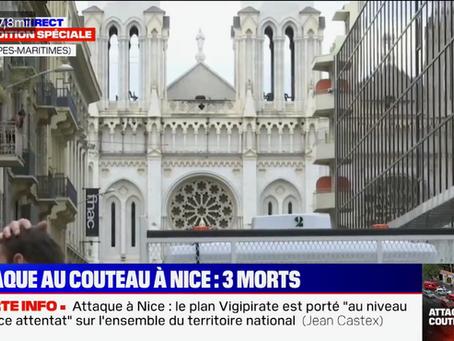 Franța ridică la maximum nivelul de alertă teroristă după un atac într-o biserică din Nisa!