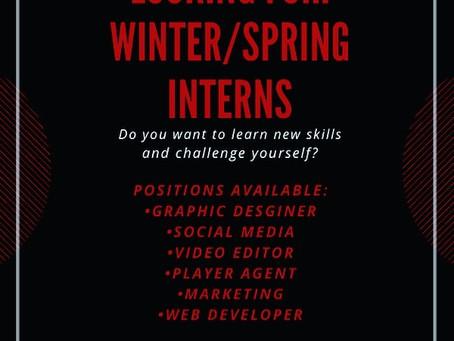 Winter/Spring Internships 2021