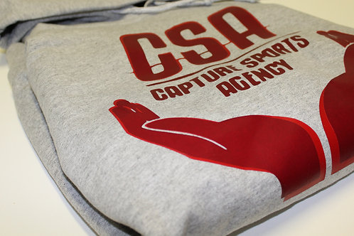 "CSA ""HOME TEAM"" PULLOVER HOODIE - GRAY W/RED"
