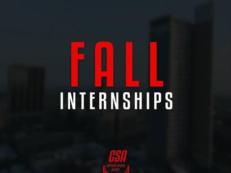 Fall Internships!!!