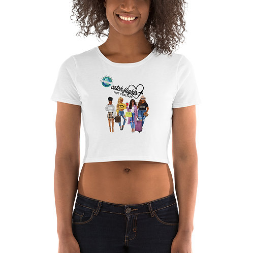 Catch Flights Women's Crop Tee- Black Girlfriends