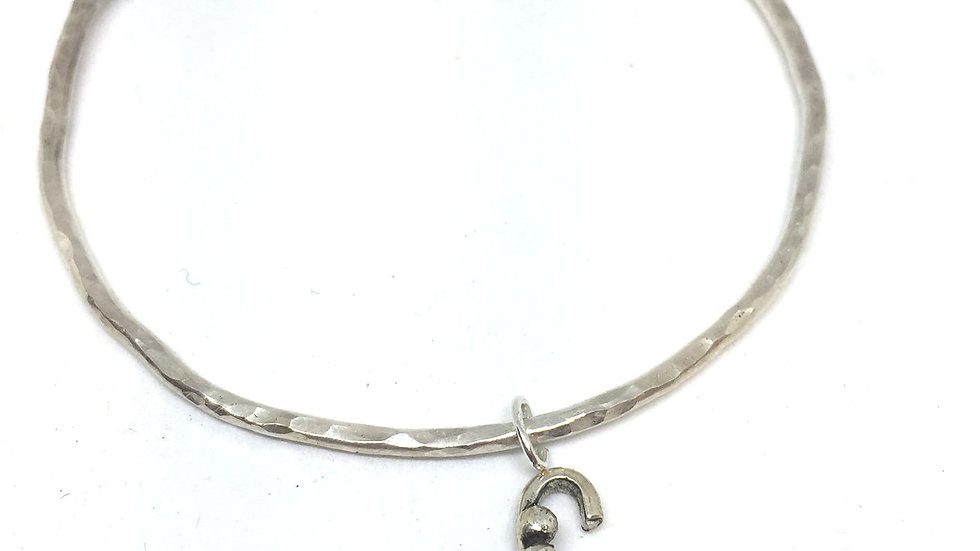 Initial Bangle Letter C