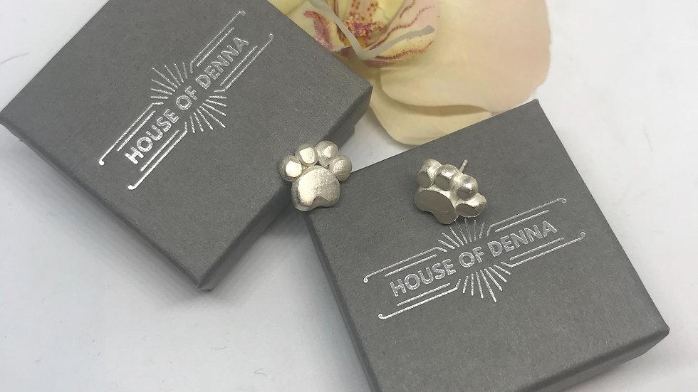 Amber Paw Earrings
