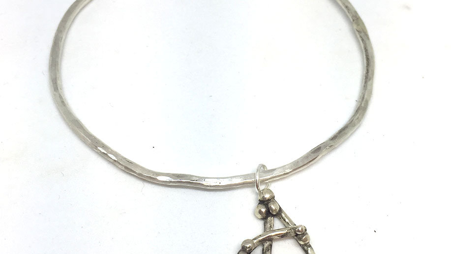 Initial Bangle Letter A