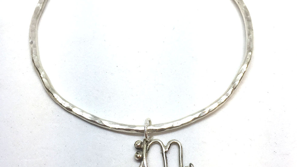 Initial Bangle Letter M