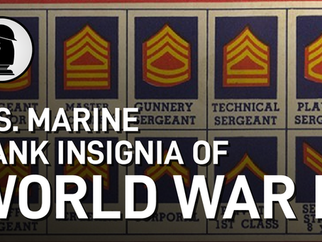 Video: US Marine Ranks of World War II