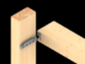 Схема сборки стойки и риеля из дерева