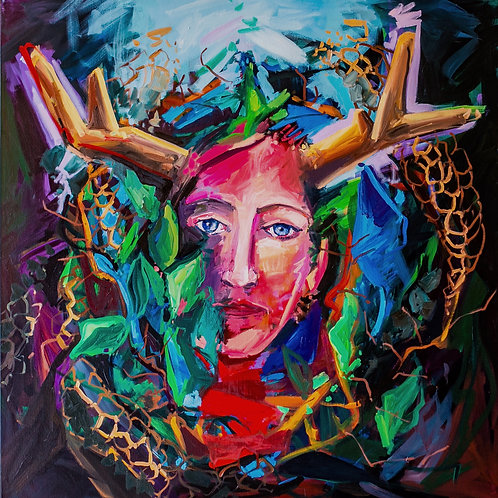 "Sophia Gaia, 24""x24""  giclee canvas print"