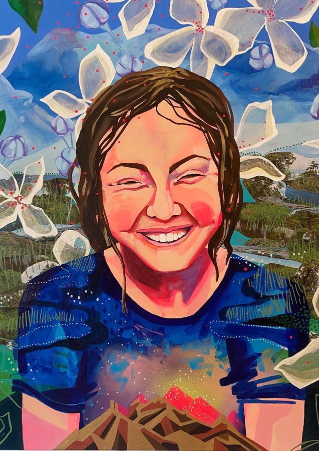 "Sweet 13, 24""x36""acrylic on canvas"