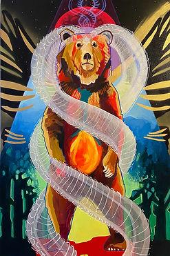 Seraphim Bear, 20_x36_ acrylic on canvas