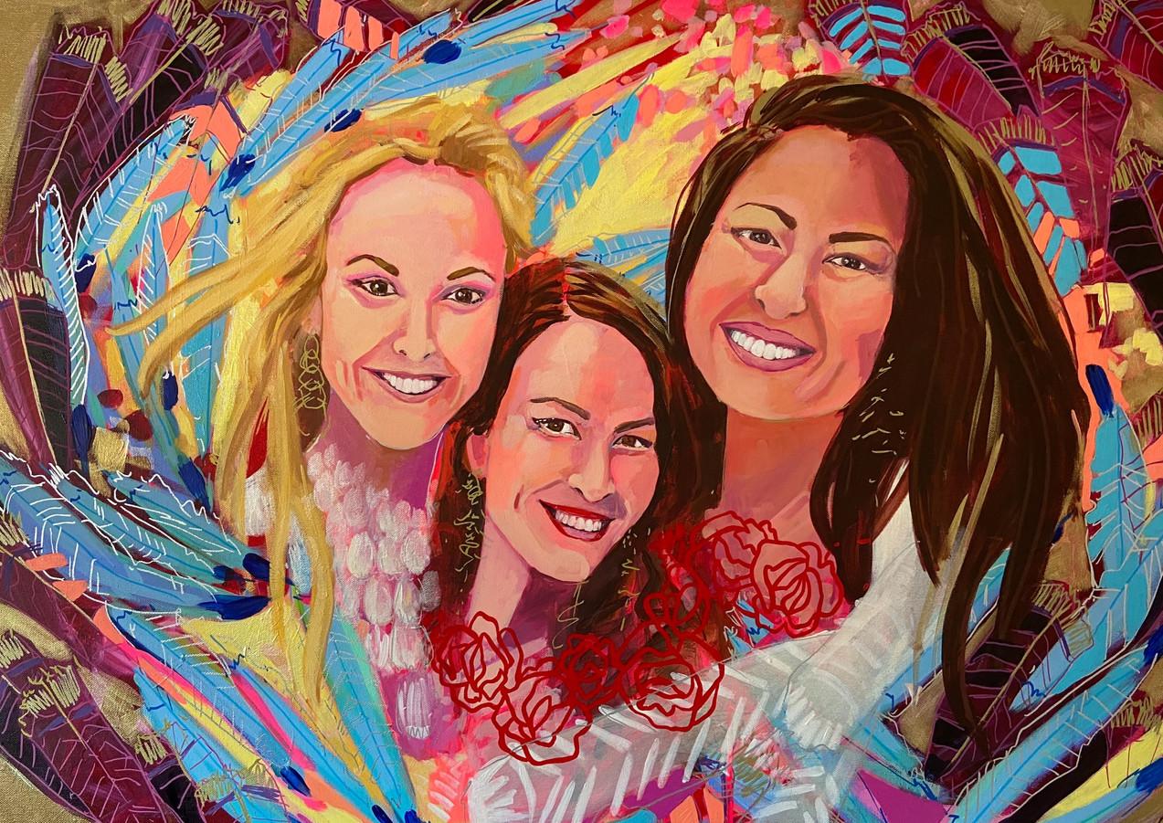 """The Power of Trinity, 30""""x40"""" acrylic on canvas"""