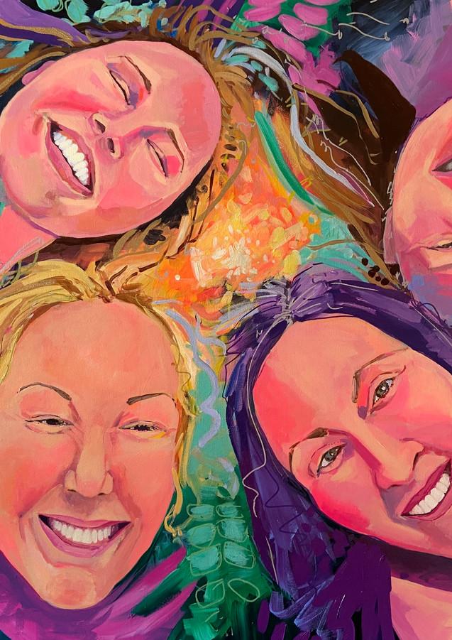 "Cosmic Sisters 30""x40"" acrylic on canvas"