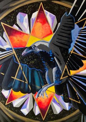 Alchemy of You, 30_x30_ acrylic on canvas
