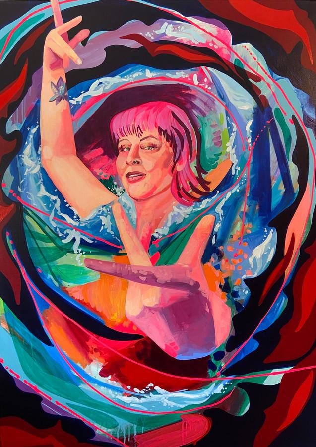 """Sufi Goddess. 48""""x36"""" acrylic on canvas"""