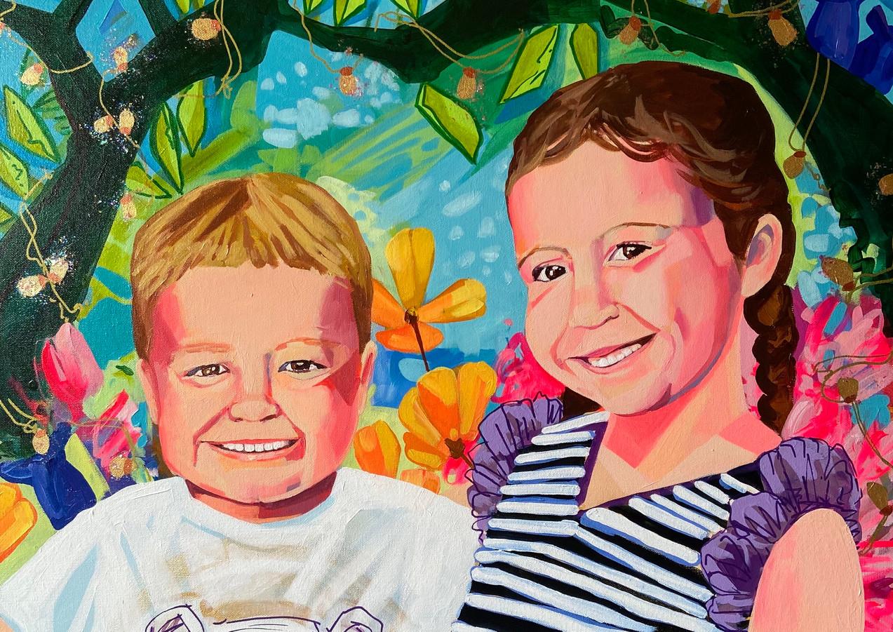"Earth Angels, 36""x36"" acrylic on canvas"