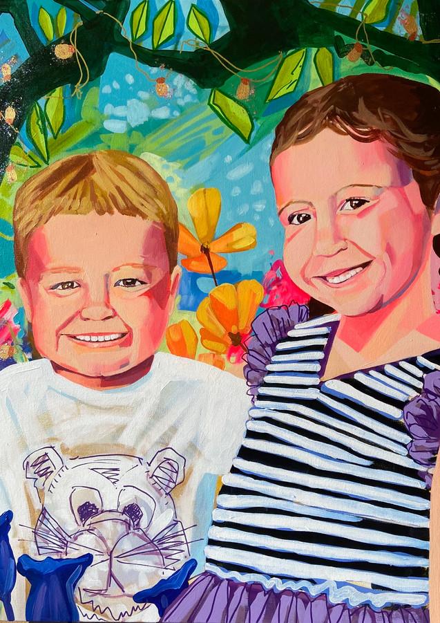 Earth Angels, 36_x36_ acrylic on canvas