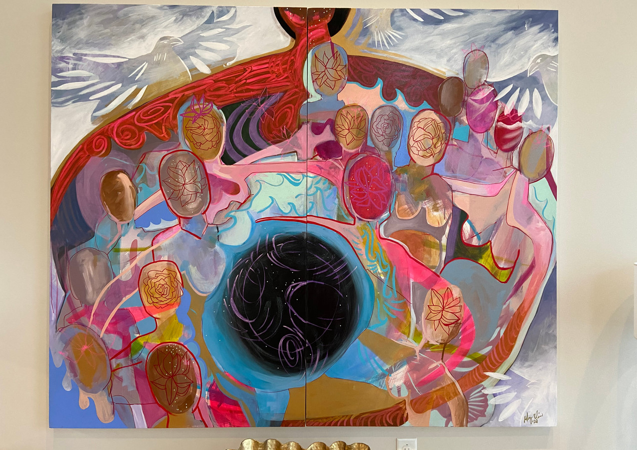 Ancient Circle. 60_x78_ Acrylic on canva