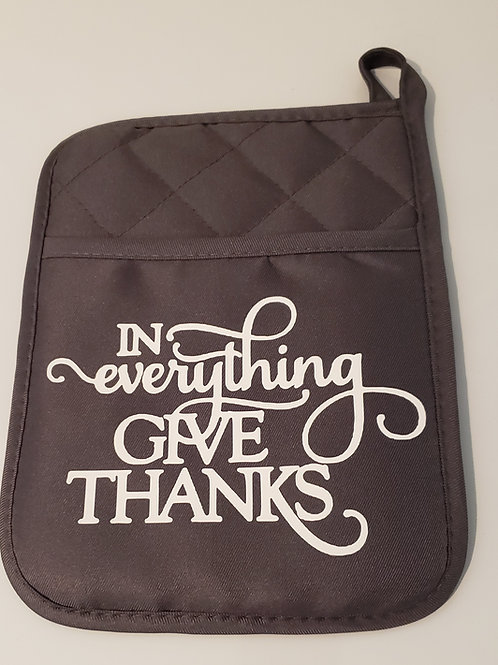 Give Thanks Potholders