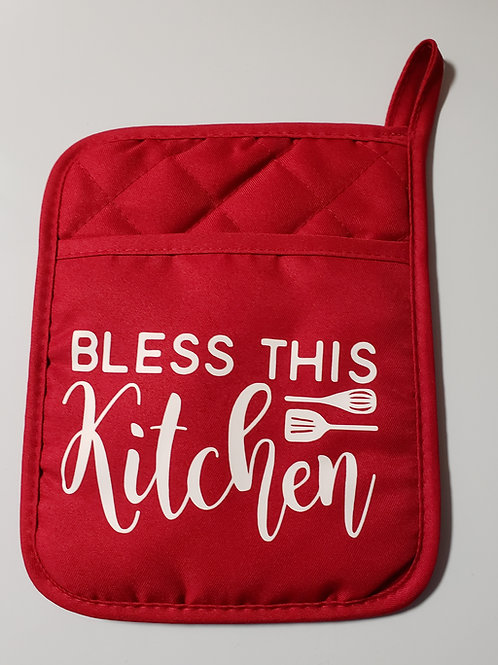 Bless This Kitchen Potholders