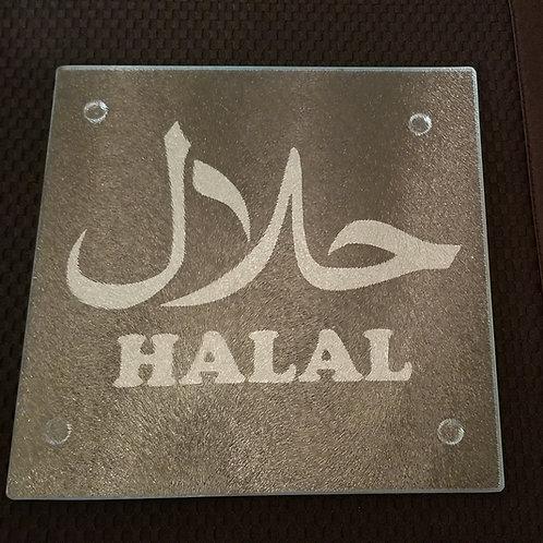 Halal Glass Cutting Board