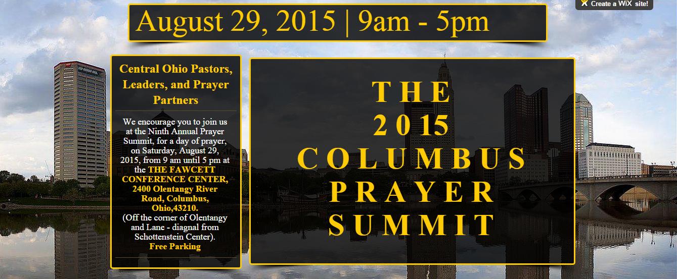 August 29 Prayer Summit
