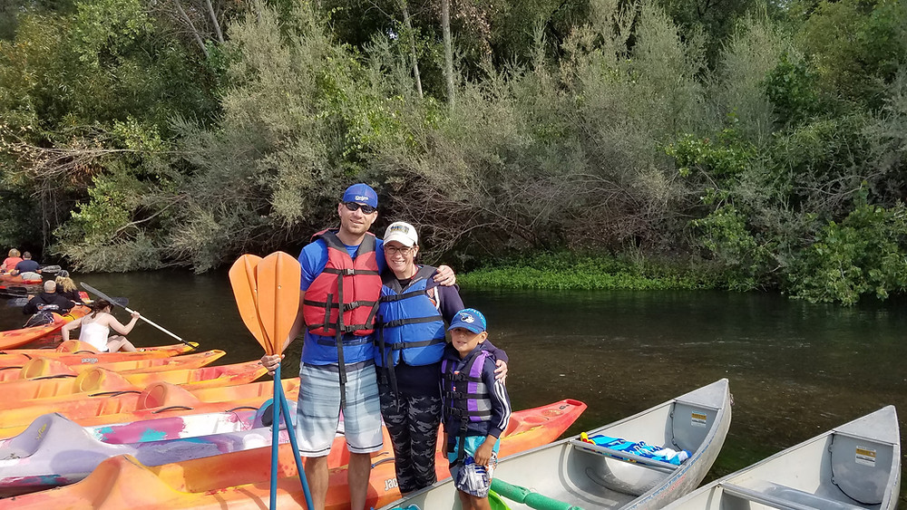 Family and me canoeing on the Russian River.