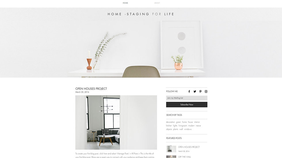 TEMPLATE HOME STAGING
