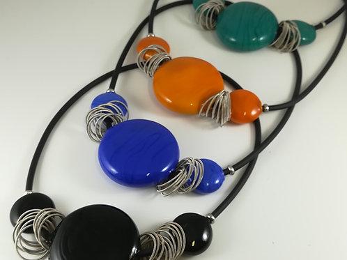 Collana Perle soffiate piatte
