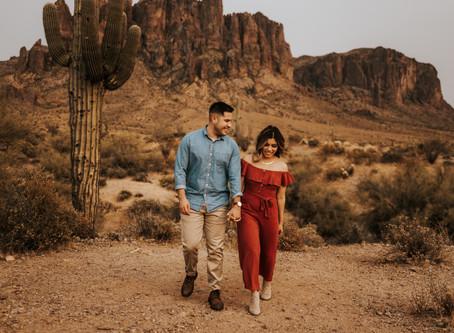 AMERICA + SERGIO / DESERT ARIZONA ENGAGEMENT SESSION AT LOST DUTCHMAN / PHOENIX WEDDING PHOTOGRAPHER