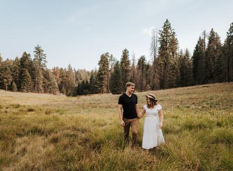 SARAH + TANNER / MOUNTAINTOP SUMMER SWEETHEART SESSION AT MOUNT GRAHAM / TUCSON WEDDING PHOTOGRAPHER