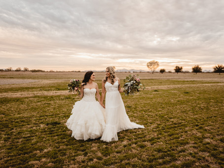 MELISSA + KENDRA // BEAUTIFUL SUNSET FIELD WEDDING AT GLOVER RANCH // TUCSON WEDDING PHOTOGRAPHER