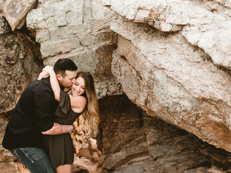 KATRINA + BRYCE // MOUNTAIN ENGAGEMENT SESSION AT WINDY POINT // TUCSON WEDDING PHOTOGRAPHER