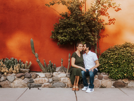 AMANDA + ALEX / BRIGHT & COLORFUL DOWNTOWN PRESIDIO ENGAGEMENT SESSION / TUCSON WEDDING PHOTOGRAPHER