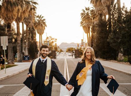 LEAH + RYAN // COUPLE'S GRADUATION SESSION AT UNIVERSITY OF ARIZONA // TUCSON WEDDING PHOTOGRAPHER