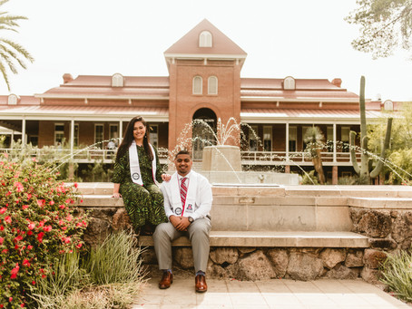 AJ + EVELYN // COUPLE'S GRADUATION SESSION AT UNIVERSITY OF ARIZONA